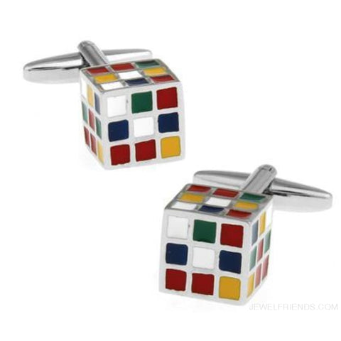 Image of 18 Designs Option Police Box/ Whiskey/ Coffee Cup/ Beer Cap/cube Design Cuff Links - 1 - Custom Made | Free Shipping