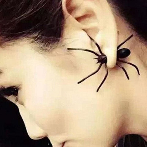Image of 1Pc Punk Black Spider Stud Earring - Custom Made | Free Shipping