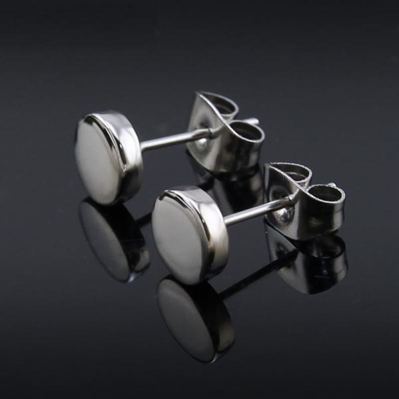 3-14Mm Round Stainless Steel Ear Studs - Custom Made | Free Shipping