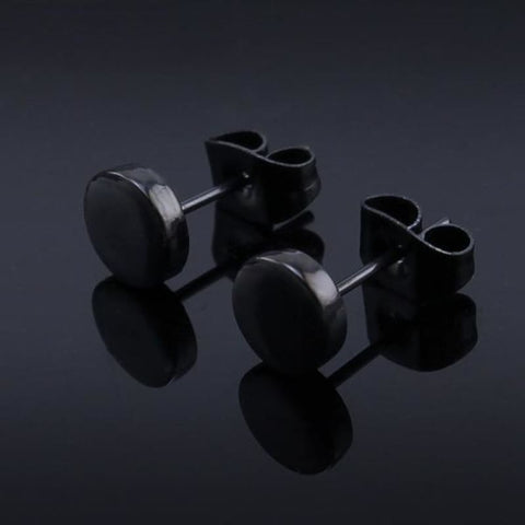 Image of 3-14Mm Round Stainless Steel Ear Studs - Custom Made | Free Shipping
