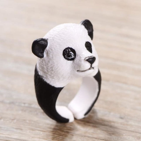 3D Animal Rings - Panda - Custom Made | Free Shipping