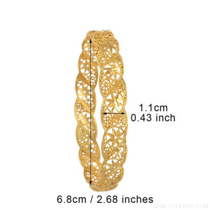 4Pieces/Lot, Ethiopian Gold Color Middle East Bracelet