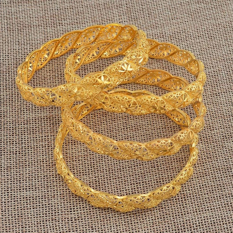 Image of 4Pieces/lot Ethiopian Gold Color Middle East Bracelet - Custom Made | Free Shipping