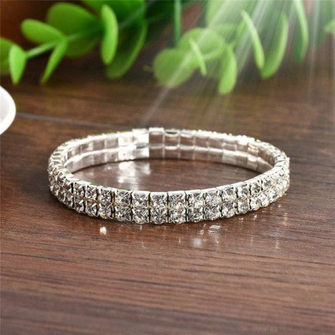5 Styles Crystal Rhinestone Stretch Bracelet - 2 - Custom Made | Free Shipping