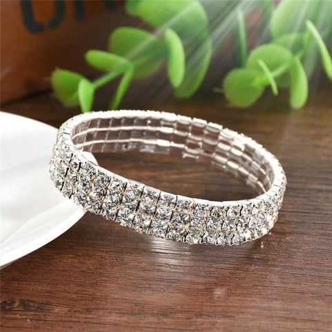 5 Styles Crystal Rhinestone Stretch Bracelet - 3 - Custom Made | Free Shipping
