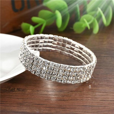 5 Styles Crystal Rhinestone Stretch Bracelet - 4 - Custom Made | Free Shipping