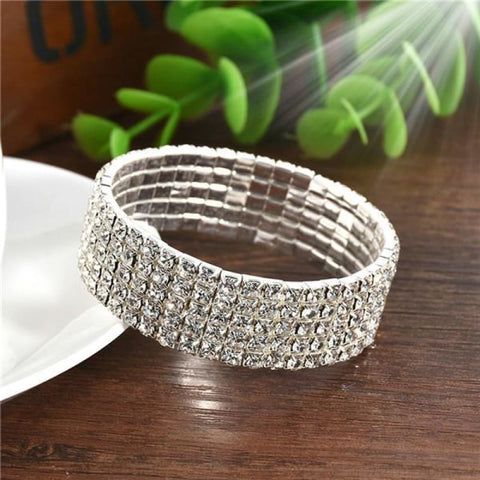 5 Styles Crystal Rhinestone Stretch Bracelet - 5 - Custom Made | Free Shipping