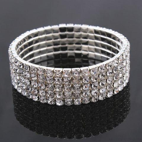 Image of 5 Styles Crystal Rhinestone Stretch Bracelet - Custom Made | Free Shipping