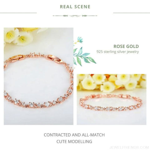 Image of 6 Colors Luxury Rose Gold Color Chain Link Bracelet - Custom Made | Free Shipping