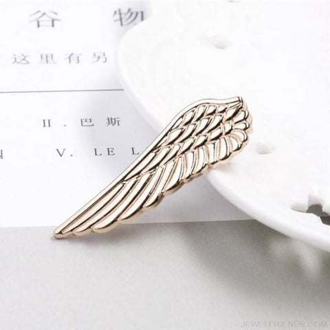 Image of 6 Styles Tie Clip Bullet Feather Glasses Anchor Mustache - Wing Gold - Custom Made | Free Shipping