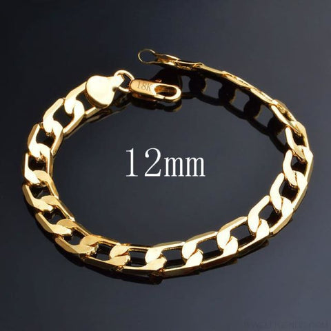 Image of 6/8/10/12 Mm Classic Chain Bracelet - 12Mm - Custom Made | Free Shipping