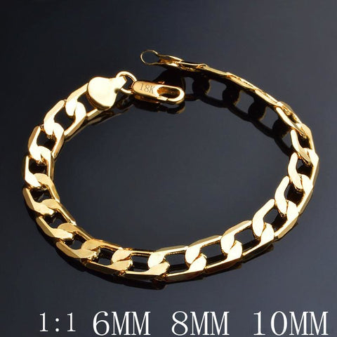Image of 6/8/10/12 Mm Classic Chain Bracelet - Custom Made | Free Shipping