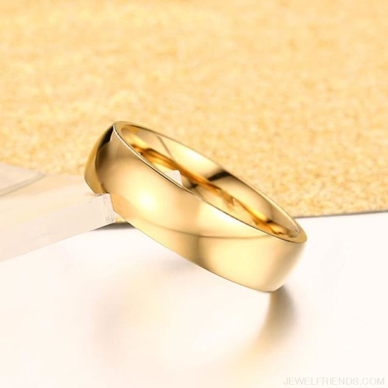 6Mm Classic Wedding Ring - 4 / Gold Color - Custom Made | Free Shipping