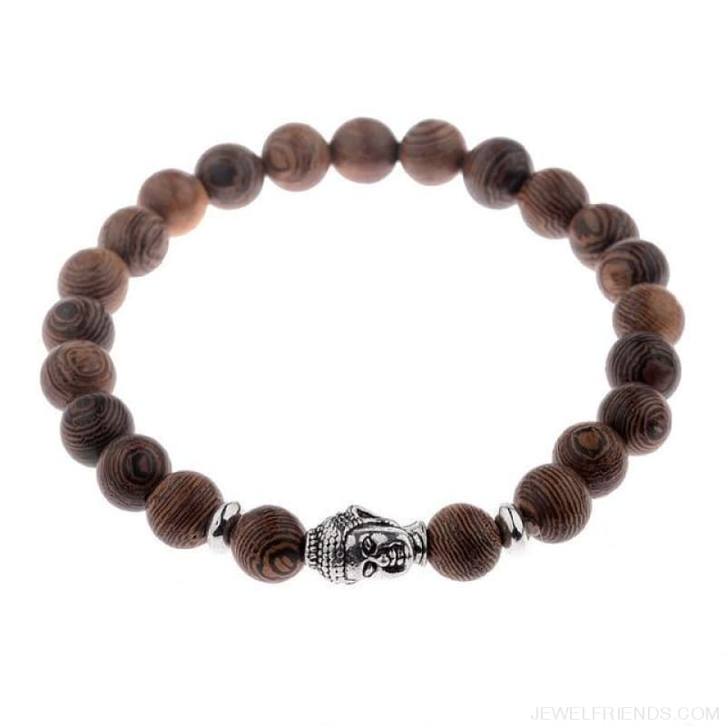 8Mm Natural Wood Beads Bracelets - 001-1 - Custom Made | Free Shipping