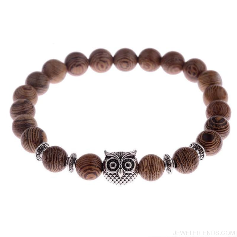 8Mm Natural Wood Beads Bracelets - 001-4 - Custom Made | Free Shipping