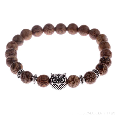 Image of 8Mm Natural Wood Beads Bracelets - 001-4 - Custom Made | Free Shipping
