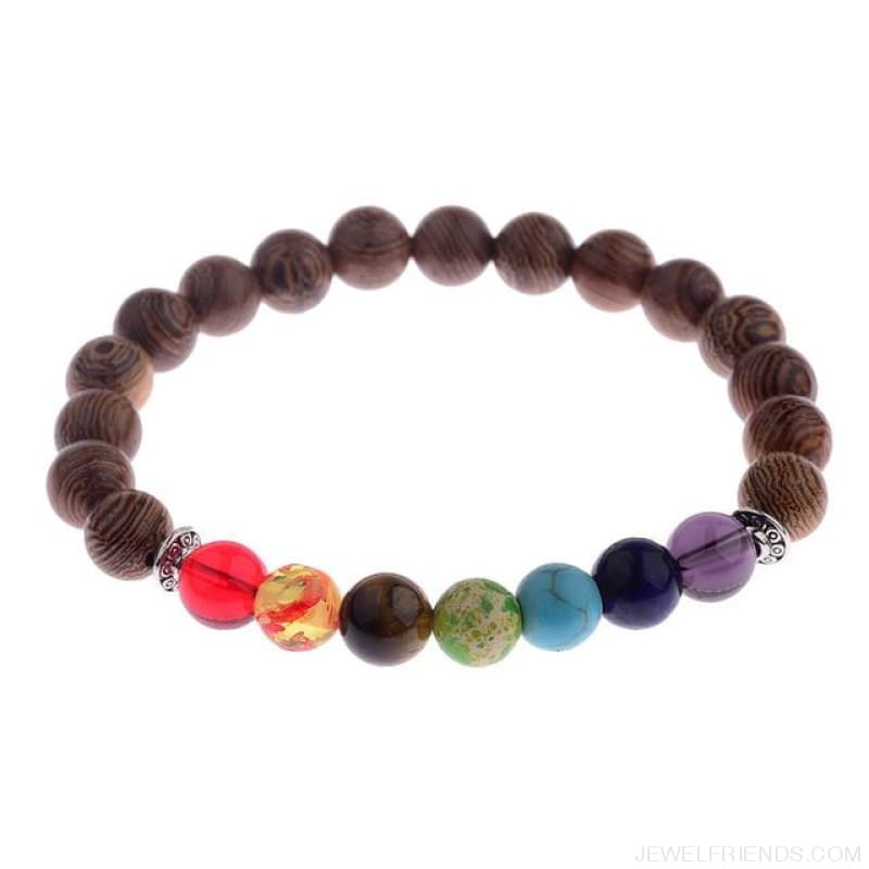 8Mm Natural Wood Beads Bracelets - 002-3 - Custom Made | Free Shipping