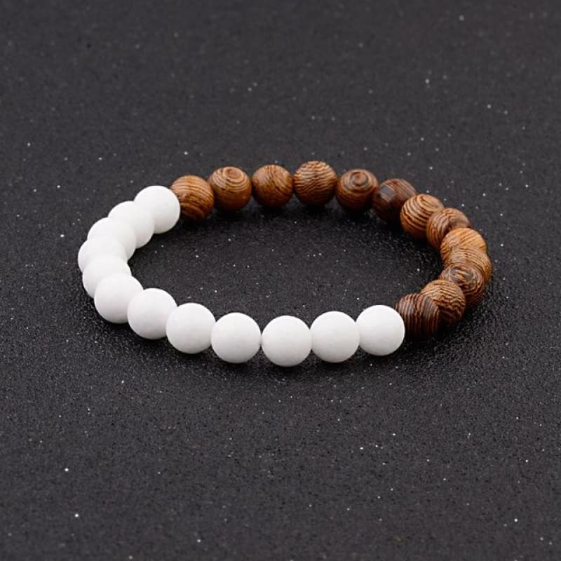 8Mm Natural Wood Beads Bracelets - 005-A1 - Custom Made | Free Shipping