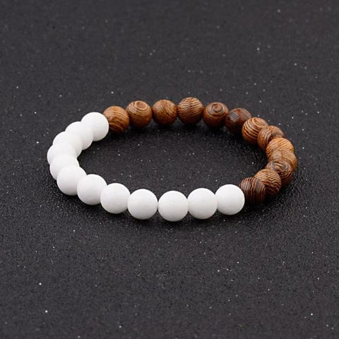 Image of 8Mm Natural Wood Beads Bracelets - 005-A1 - Custom Made | Free Shipping