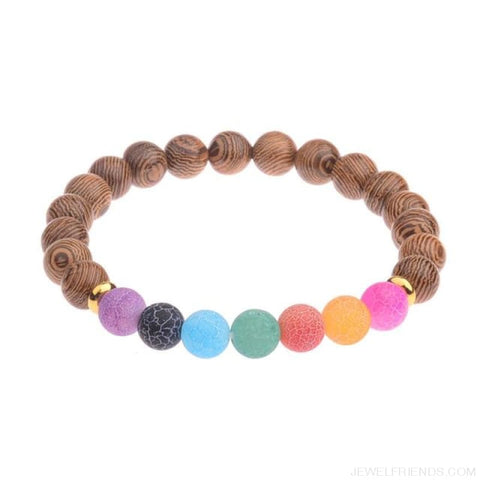 Image of 8Mm Natural Wood Beads Bracelets - 021-2 - Custom Made | Free Shipping