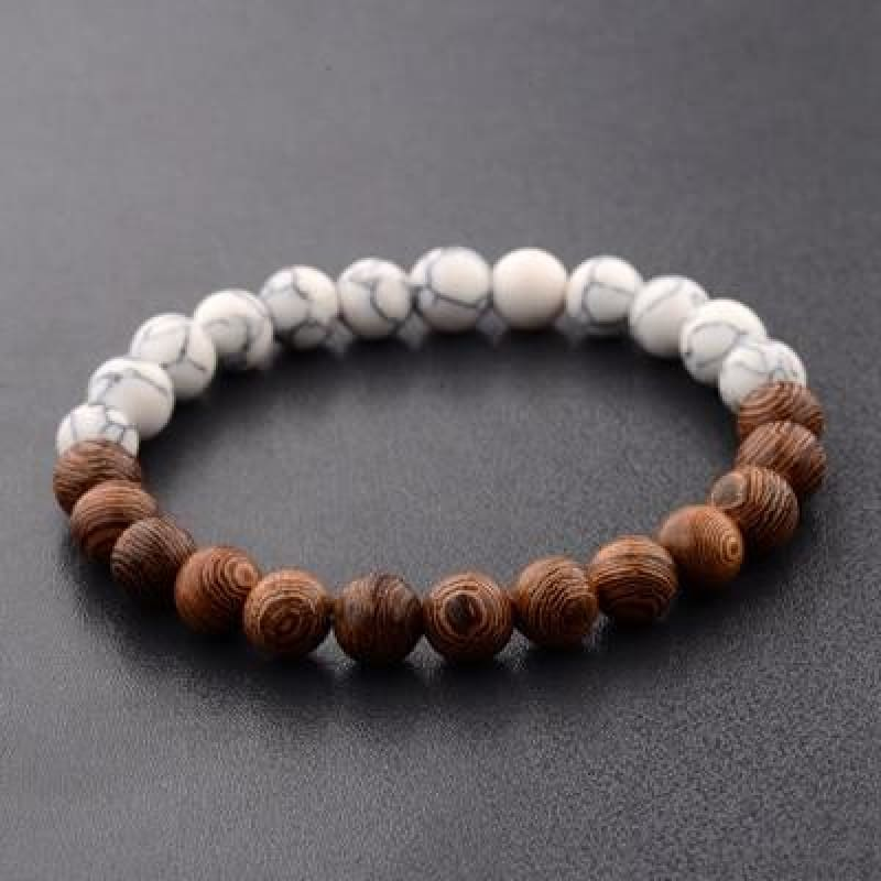 8Mm Natural Wood Beads Bracelets - 1 - Custom Made | Free Shipping