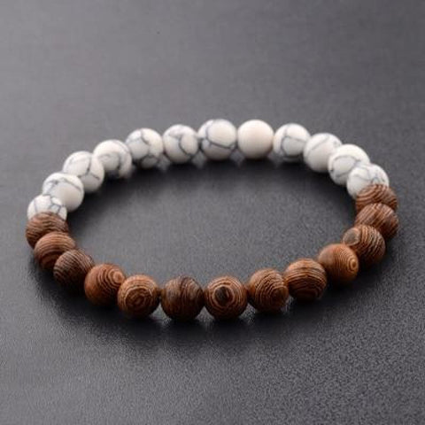 Image of 8Mm Natural Wood Beads Bracelets - 1 - Custom Made | Free Shipping