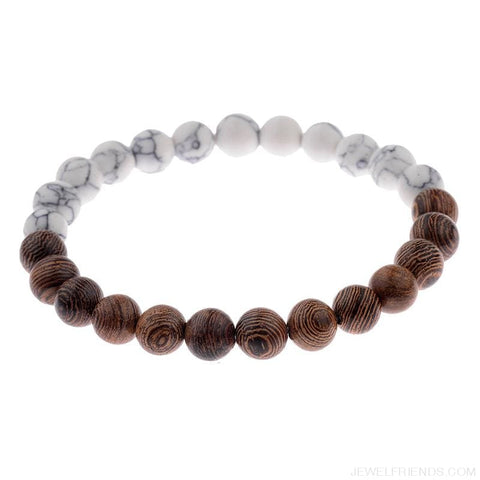 Image of 8Mm Natural Wood Beads Bracelets - Custom Made | Free Shipping