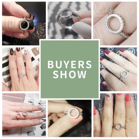 925 Sterling Silver Circle Round Finger Rings - Custom Made | Free Shipping