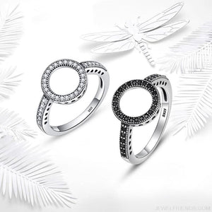 925 Sterling Silver Circle Round Finger Rings