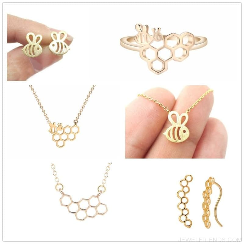 Adorable Bumble Bee Shaped Jewelry - Custom Made | Free Shipping