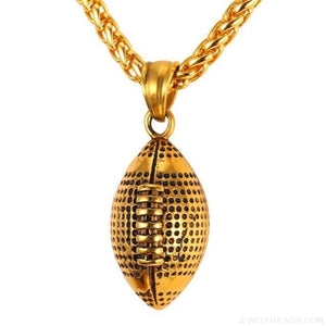 American Football Chain Necklace - Gold-Color / China - Custom Made | Free Shipping