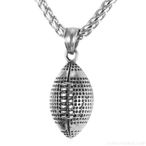Image of American Football Chain Necklace - Stainless Steel / China - Custom Made | Free Shipping