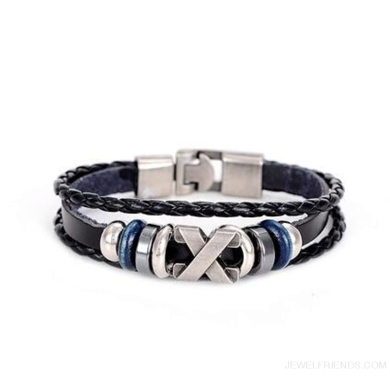 Anchor Wheel Leather Bracelets - Sl329Aaa - Custom Made | Free Shipping