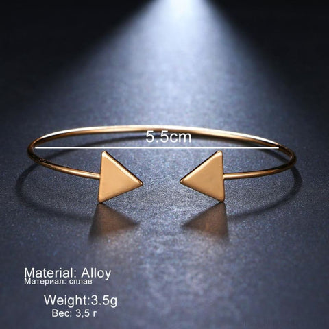 Image of Arrow Gold Color Cuff Bracelet - Custom Made | Free Shipping