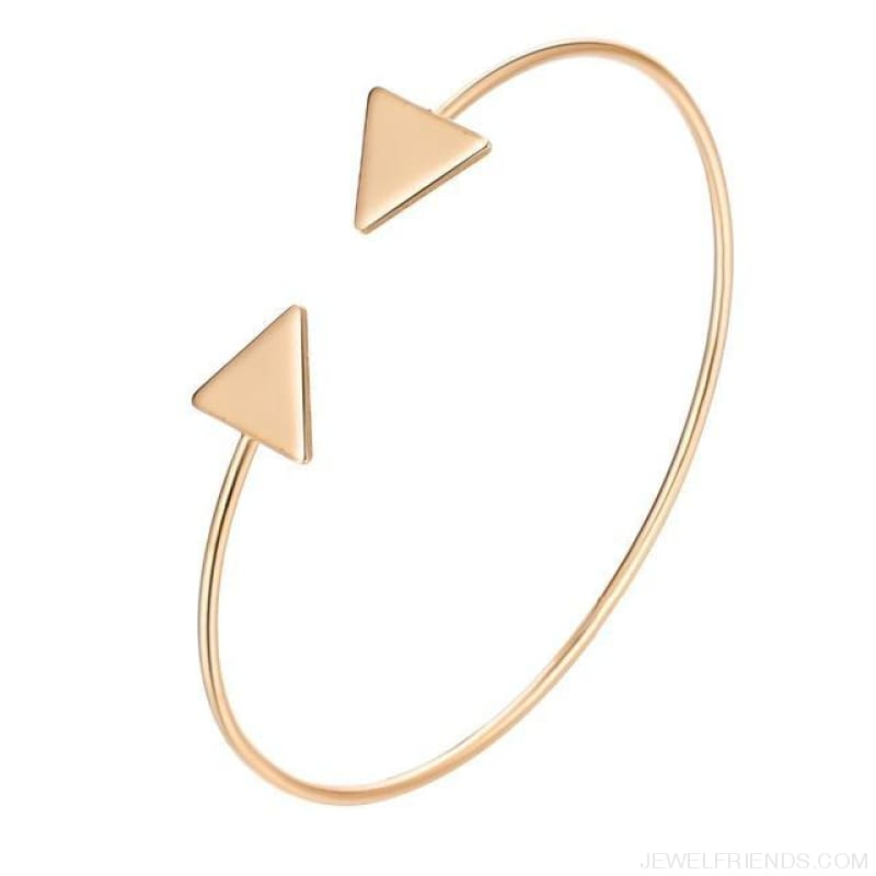 Arrow Gold Color Cuff Bracelet - Gold - Custom Made | Free Shipping