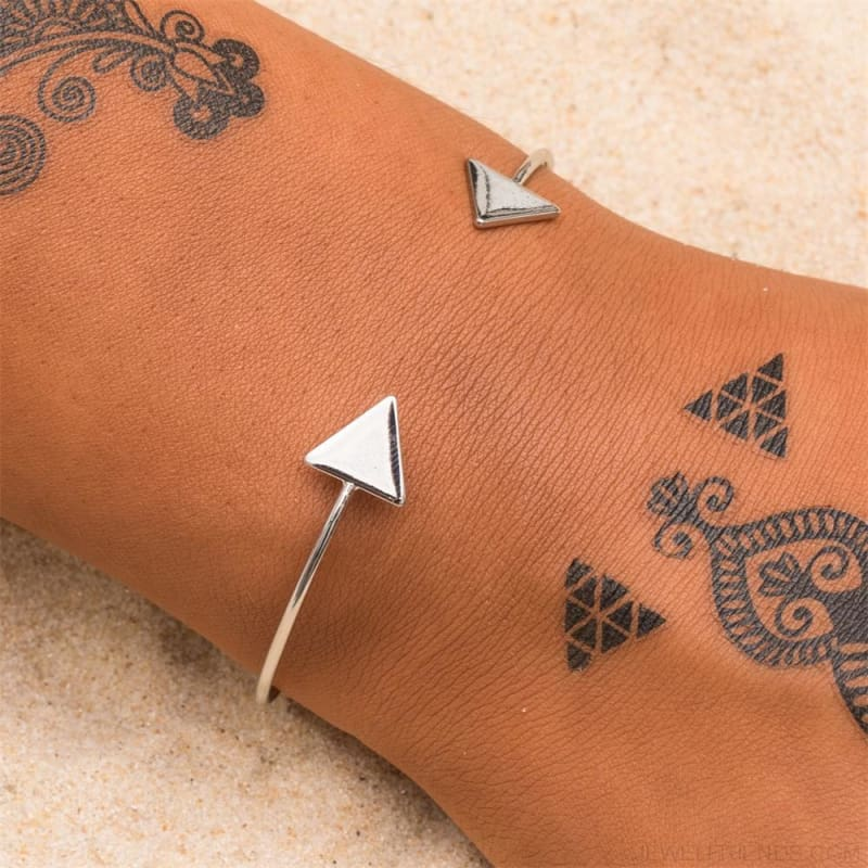 Arrow Gold Color Cuff Bracelet - Custom Made | Free Shipping