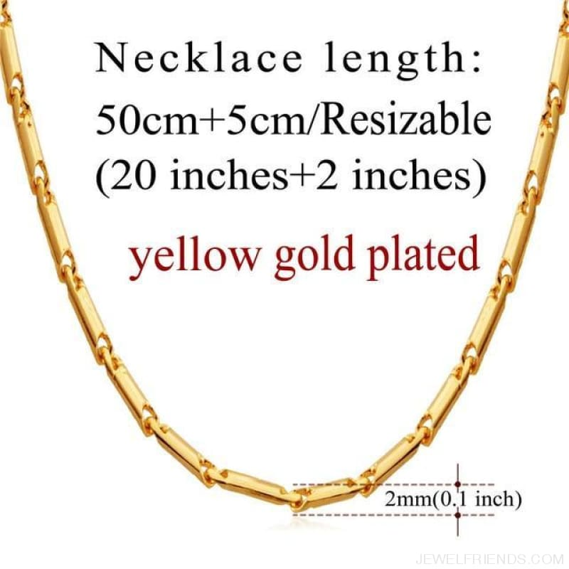 Basic Chains 3Mm/2Mm Twisted Rope Chain Necklace - Gold Plated 5 - Custom Made | Free Shipping