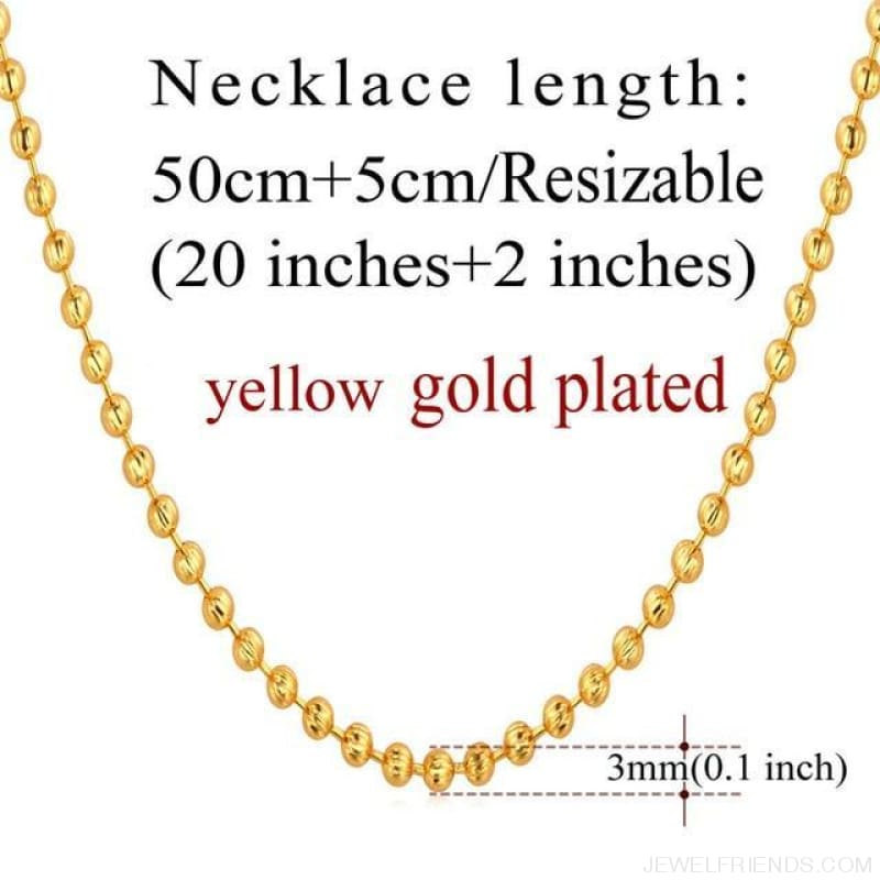 Basic Chains 3Mm/2Mm Twisted Rope Chain Necklace - Gold Plated 7 - Custom Made | Free Shipping