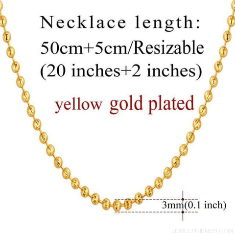 Image of Basic Chains 3Mm/2Mm Twisted Rope Chain Necklace - Gold Plated 7 - Custom Made | Free Shipping