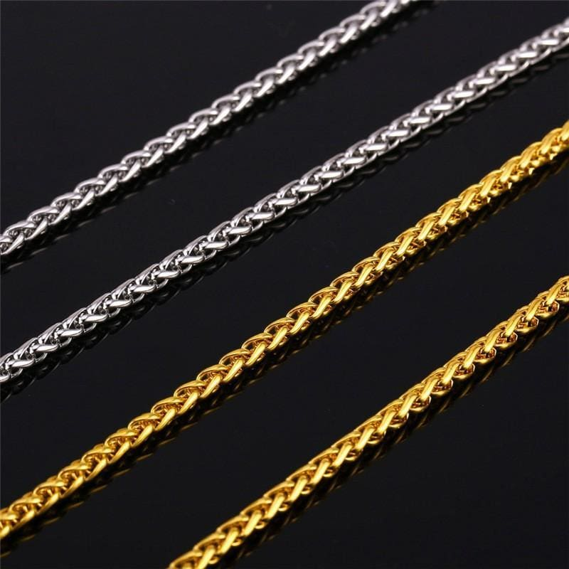 Basic Chains 3Mm/2Mm Twisted Rope Chain Necklace - Custom Made | Free Shipping