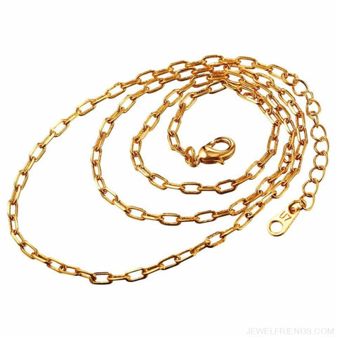 Image of Basic Chains 3Mm/2Mm Twisted Rope Chain Necklace - Custom Made | Free Shipping