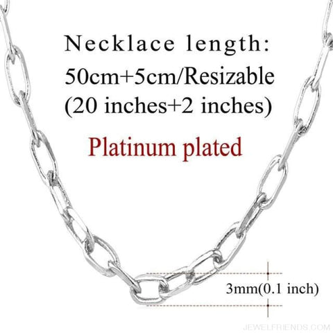 Image of Basic Chains 3Mm/2Mm Twisted Rope Chain Necklace - Platinum Plated 1 - Custom Made | Free Shipping