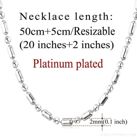 Image of Basic Chains 3Mm/2Mm Twisted Rope Chain Necklace - Platinum Plated 3 - Custom Made | Free Shipping
