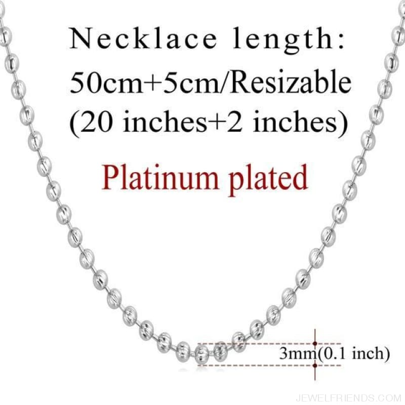 Basic Chains 3Mm/2Mm Twisted Rope Chain Necklace - Platinum Plated 6 - Custom Made | Free Shipping