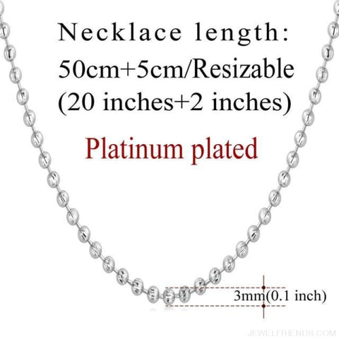 Image of Basic Chains 3Mm/2Mm Twisted Rope Chain Necklace - Platinum Plated 6 - Custom Made | Free Shipping