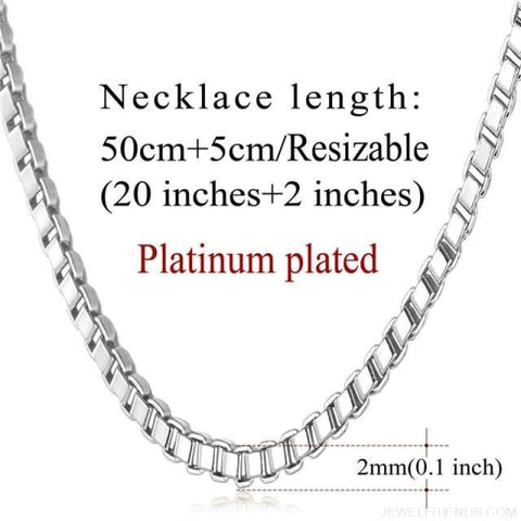 Image of Basic Chains 3Mm/2Mm Twisted Rope Chain Necklace - Platinum Plated - Custom Made | Free Shipping