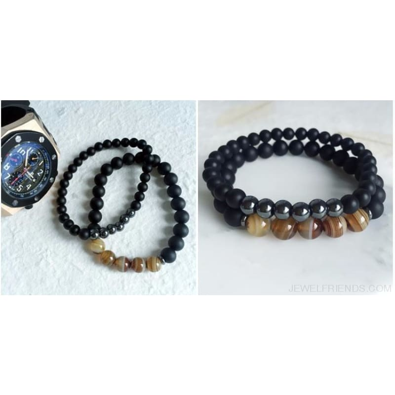 Beaded Black Buddha Bracelet - Custom Made | Free Shipping