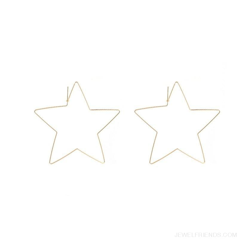 Big Star Hoop Earrings - Custom Made | Free Shipping