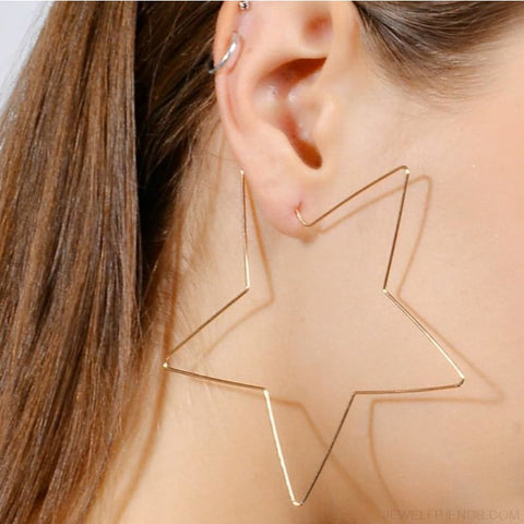 Image of Big Star Hoop Earrings - Custom Made | Free Shipping
