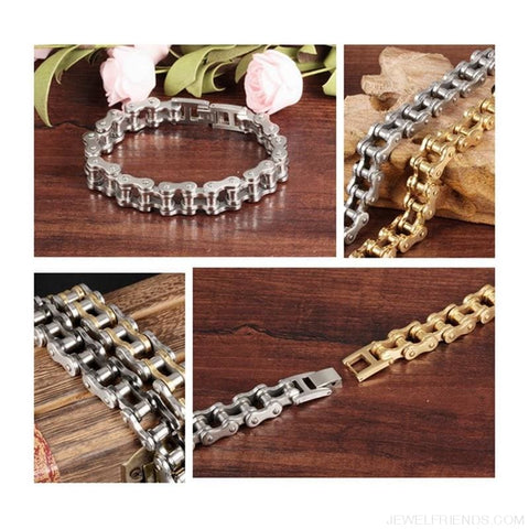 Image of Biker Bicycle / Motorcycle Link Chain Cool Bracelet - Custom Made | Free Shipping